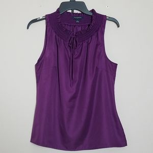 Banana Republic Plum Colored Sleeveless Top Size L